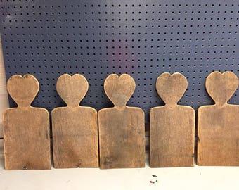 Primitive Barn Wood Heart Board