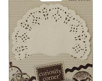 Curiosity Corner White Paper Lace Doilies - Dovecraft - DCDO006