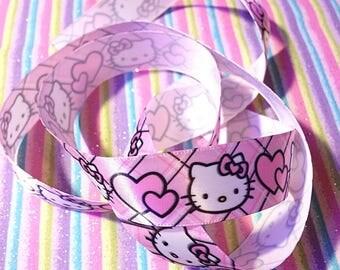 Pink Hello Kitty hearts kawaii ribbon