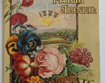 Retro Burpee's Farm Annual Replica 1888