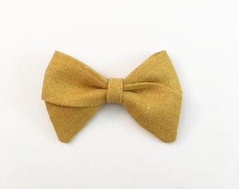 Mustard Sailor Bow - Baby Bows - Newborn Bows - Newborn Head Bands - Baby Headband - Toddler Hair Bows - Hair Bows - Hair Accessories