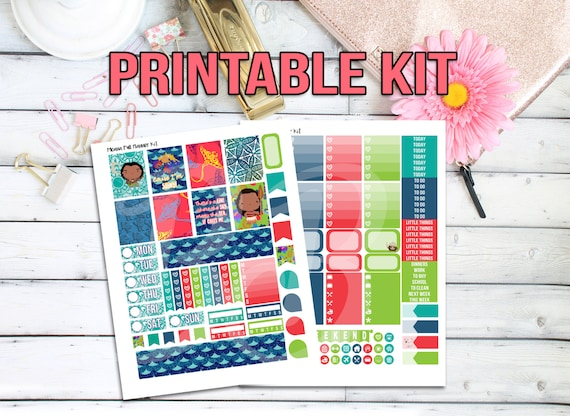 Disney Moana Day Printable Planner Stickers