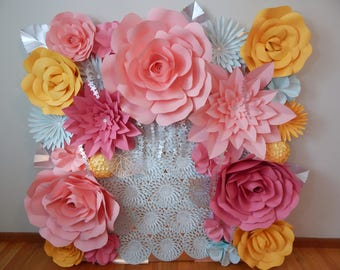Paper Flower Backdrop ******Customize your Order*******