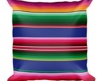 Mexican Serape Pattern Pillow