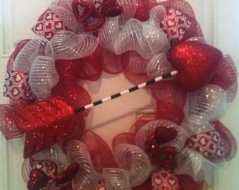 Valentine's Day Wreath, Valentine Front Door Wreath, Valentine Wreath, Holiday front door wreath, front door wreath