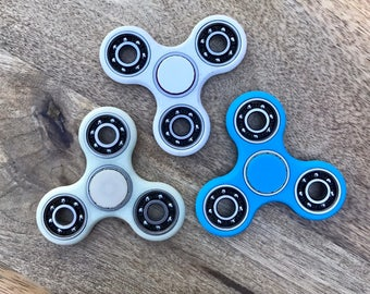 Fidget Spinner 3D Printed w EXPOSED Bearings; EDC Fidget Spinner Toy; Desk Toy; Stress Relief; Tri Spinner Hand Spinner