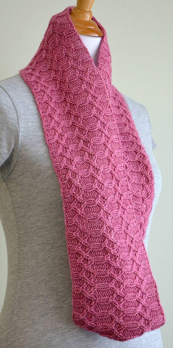 Infinity Scarf Knitting Pattern, Infinity Cowl, Cabled ...
