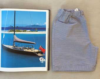 Summer shorts and tshirt for boys sailor style.