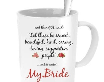 Gift From Groom To Bride, Groom To Bride Gift, Bride Coffee Mug, Bride Gift, Wedding Gift, Wedding Gifts For The Bride, Bride Mug, Bride Cup