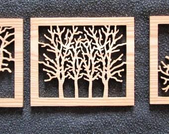 Winter Trees Triptych