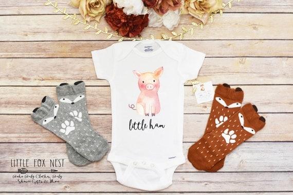 baby shower gift funny onesie funny baby gift pig onesie baby