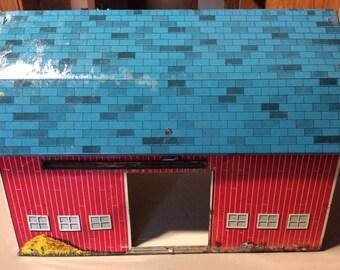 Ohio Art toy tin barn