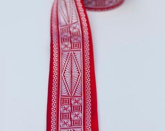 Polynesian Necktie- Skinny Tongan Red