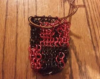 Harley Quinn Themed Chainmail Dice Bag
