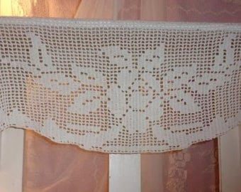 valance or old curtain, shelf