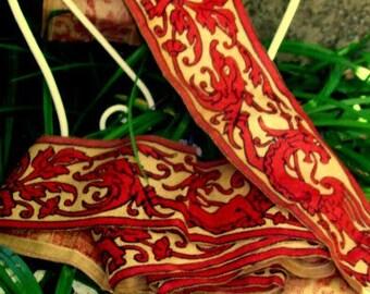 jute canvas printed patterns of chimeras 19 eme