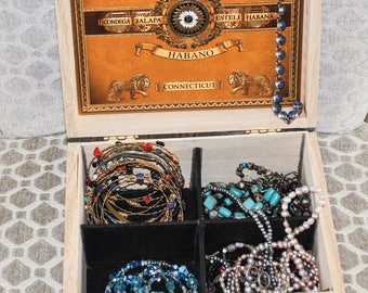 Upcycled Cigar Jewelry Box Eco-Friendly Reuse Repurpose Gift Nicaragua