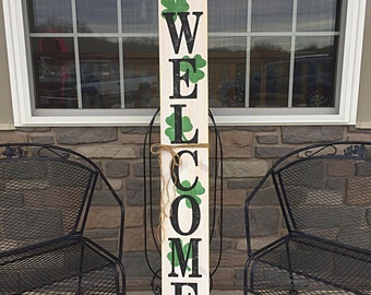 Reversible Rustic wood welcome signs, Welcome porch signs, Front porch decor, Rustic welcome signs, Front porch wood welcome signs