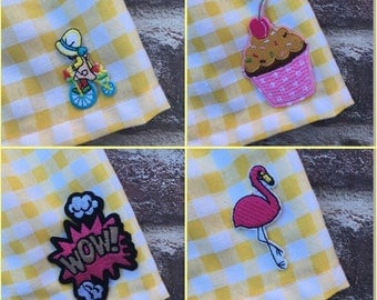 Iron on patches/ retro patches/ flamingo skirt/ donut skirt/ baby girl outfit/ baby girl skirt/ girls iron on patches/ cool patches/ trendy