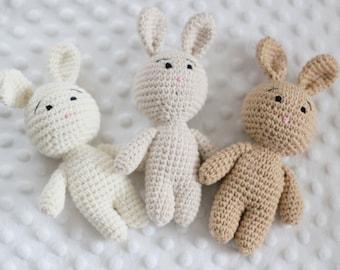 Mini Crochet Bunny Photo Prop Newborn Photo Prop Children Photo Prop Crochet bunny caramel beige light beige