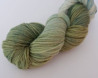 Greengage, Sport Weight Hand Dyed Yarn