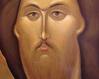 Christ Redeemer Rublev Ancient Russian icon Jesus Christ Orthodox icon egg tempera