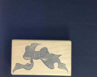 Ribbon/Bow Wood Mounted Stamp