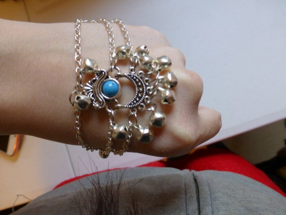 Chinese Sliver beautiful Blue Bell Bracelet Accessories or Hair Accessories