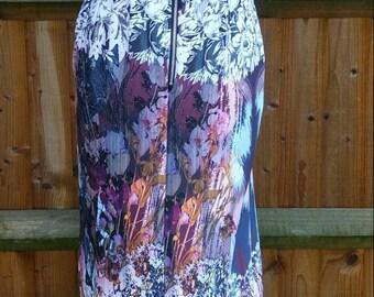 Placement print midi dress