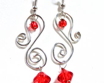 Silver Swirl Earrings