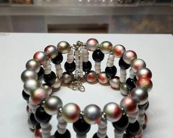 Bangle beaded bracelet