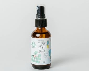 Yoga Mat Spray - Natural Yoga Mat Cleaner - Essential Oil Spray