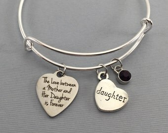 daughter bracelet daughter gift bangle bracelet gift for daughter mother daughter jewelry - Valentines Gifts For Daughters