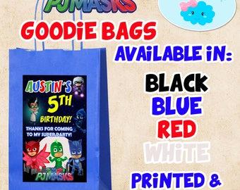 Pj Masks Goodie Bags, Pj Masks Candy Bags, Pj Masks Party Favor Bags