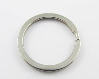 Bulk Keyring Split Ring Finding 30mm Stainless Steel Silver Tone