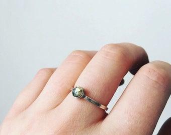 Stackable ring// labradorite ring//sterling silver ring