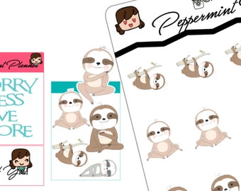 Sloth Planner Stickers, planner stickers {#30}