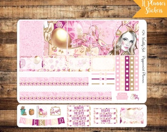 H planner Beautiful Easter Bunny Weekly Planner Stickers, Planner stickers {#24}