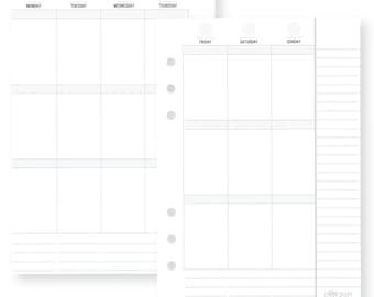 Carpe Diem Planner Essentials Vertical Format Weekly Inserts