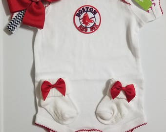 baby girl boston red sox outfit-boston red sox baby-boston red sox newborn-baby girl boston red sox/ newborn boston red sox/baby red sox