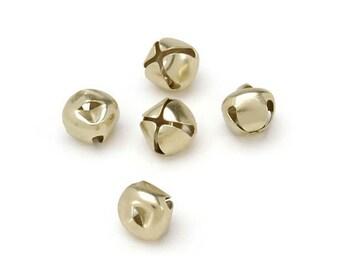 Darcie Jingle Bells - Gold - 1/2 inch - 48 pieces