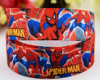"""Spiderman Grosgrain 7/8"""" Printed Ribbon"""