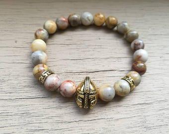 Helmet bracelet, Gladiator bracelet, Gladiator helmet bracelet, Spartan men's bracelet, Viking bracelet, Gift for men, Gift for women