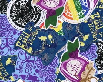 Roller derby sticker pack