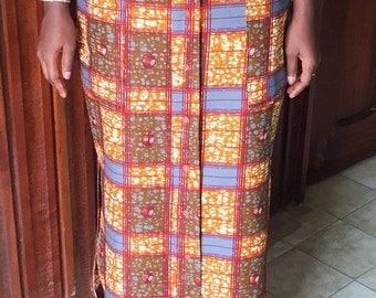 SALE African fashion print skirt african maxi skirt african wax print ankara skirt african shop handmade high waist maxi skirt size 12UK