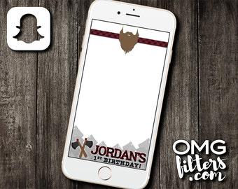Lumberjack Custom Snapchat Filter - Birthdays / Baby Showers / Any Event Geofilter!