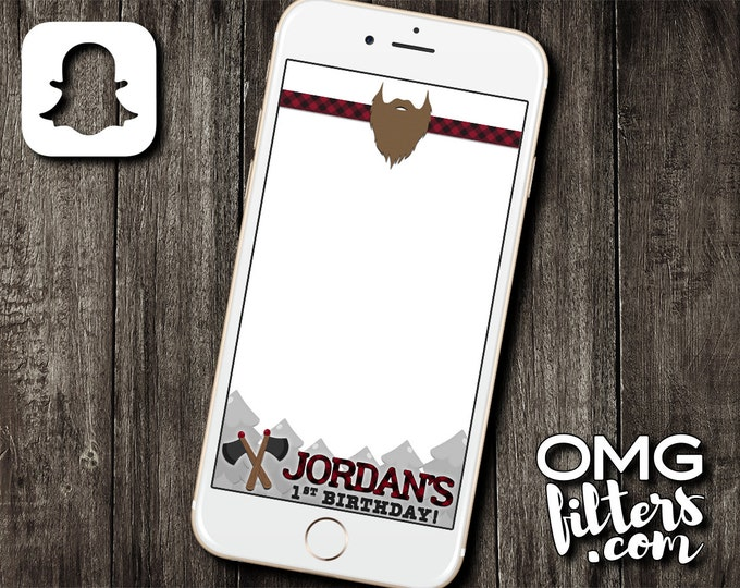 Lumberjack Custom Snapchat Filter - Birthdays / Baby Showers / Any Event Geofilter!