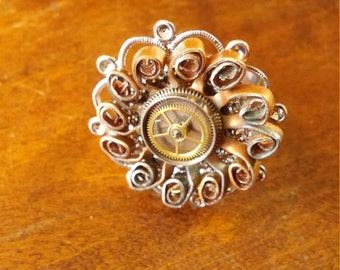 Adjustable Steampunk ring