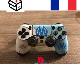 Skin stickers marseille ps4 controller led light bar controller
