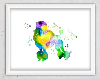 Dog Wall Art, Dog Print, Instant Digital Art Print, Dog Room Decor, Dog Nursery Art, Dog Printable, Nursery Art, Watercolor Art, Poster Art